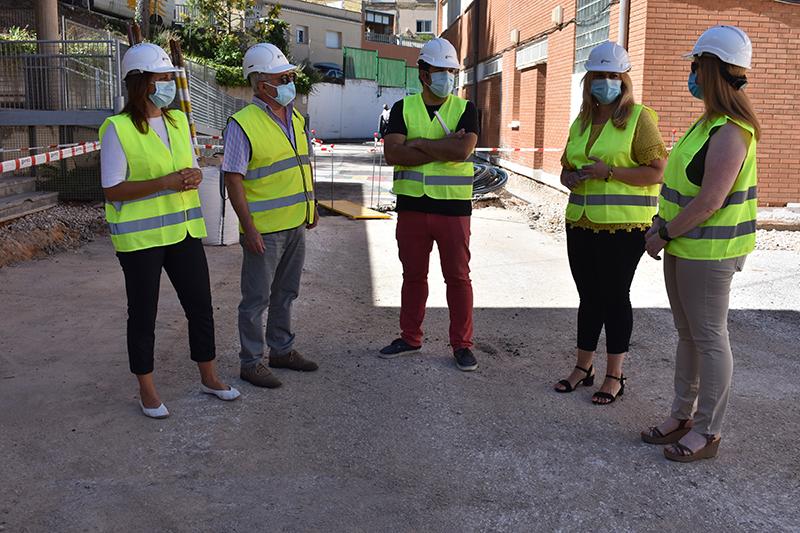La Junta acomete obras de acondicionamiento en el patio del colegio Santa Teresa de Cuenca