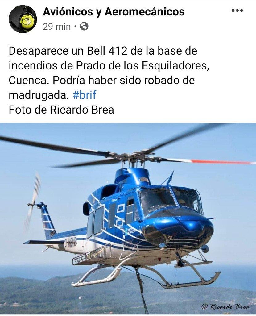 Localizan en Córdoba y en buen estado el helicóptero robado de la BRIF de Prado de los Esquiladores