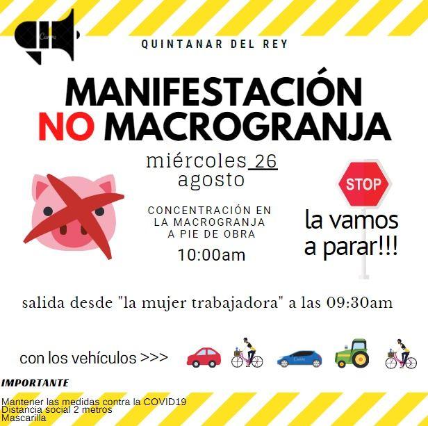 Quintanar del Rey convoca una manifestación para protestar contra la macrogranja