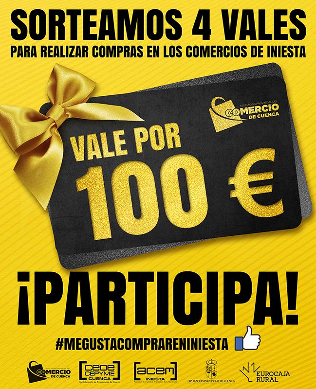 Ya se conocen los ganadores del sorteo de 4 vales de 100 de la asociación de comercio para comprar en Iniesta