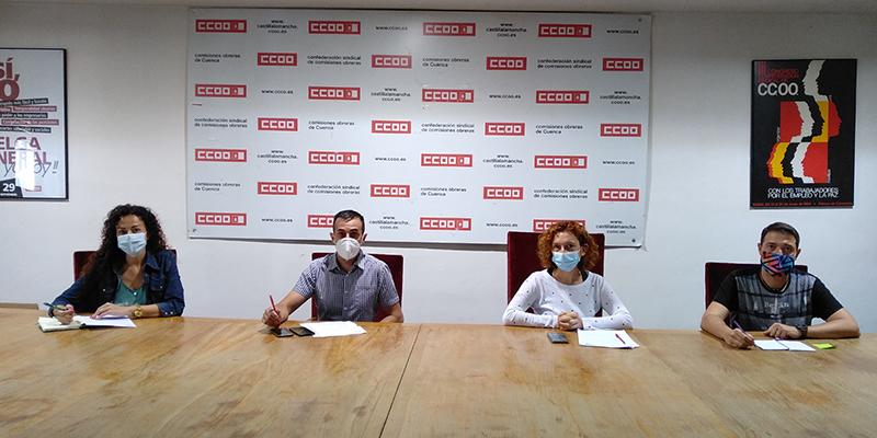 """CCOO-Enseñanza Cuenca considera que """"hay muchas cosas que mejorar para garantizar una presencialidad segura en las aulas de la provincia"""""""