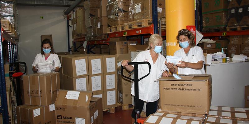 El área de Salud de Cuenca ha recibido un nuevo envío de más de 36.000 artículos de protección de la Junta