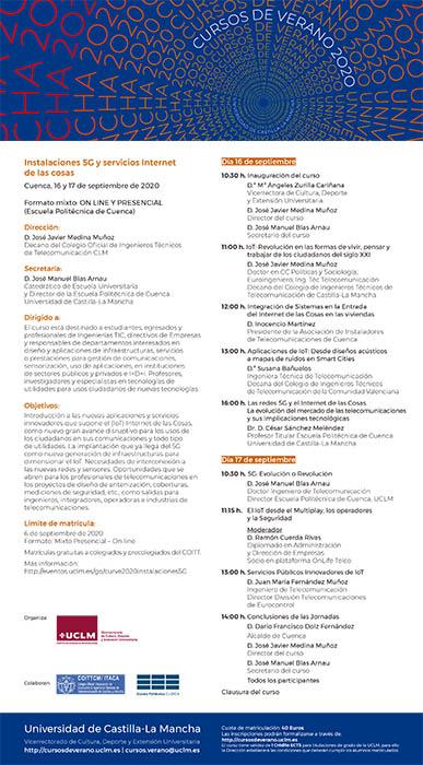 Expertos a nivel nacional debaten en Cuenca sobre la actualidad de las infraestructuras de 5G e IoT