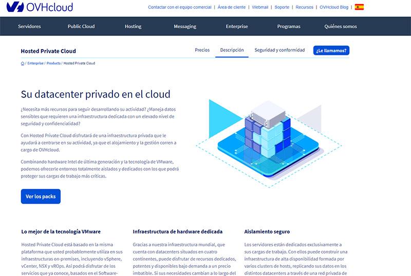 Hosted Private Cloud Premier OVHcloud sienta las bases para un cloud privado alojado de nueva generación