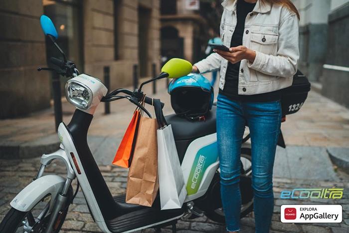 La app eCooltra se incorpora a la tienda de aplicaciones AppGallery de Huawei ofreciendo beneficios exclusivos a sus usuarios