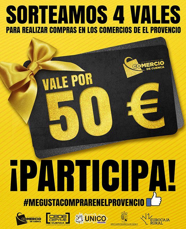 La Asociación de Comercio de Cuenca lanza un nuevo sorteo de 4 vales de 50 euros para comprar en El Provencio