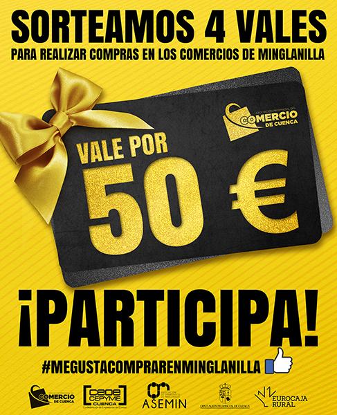 La Asociación de Comercio de Cuenca lanza un nuevo sorteo de vales para comprar en los comercios de Minglanilla