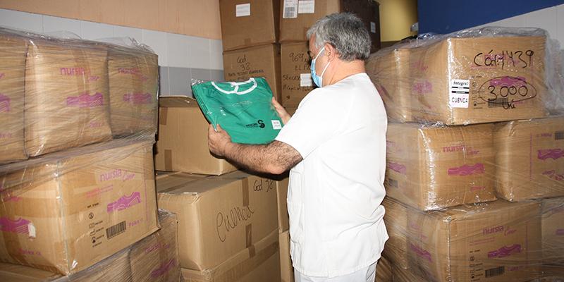 La Junta ha distribuido otros 41.328 artículos de protección frente al coronavirus en el área de Salud de Cuenca