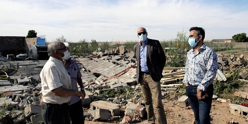 El subdelegado del Gobierno en Cuenca conoce los daños por tormenta en Santa María del Campo Rus