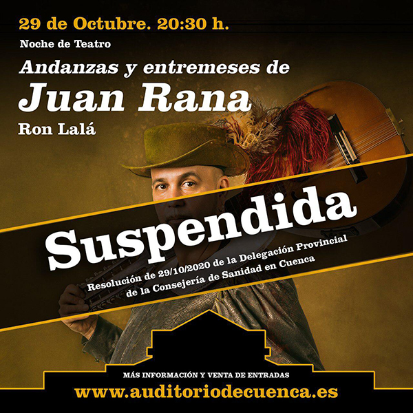 Auditorio Cuenca cartel suspensión