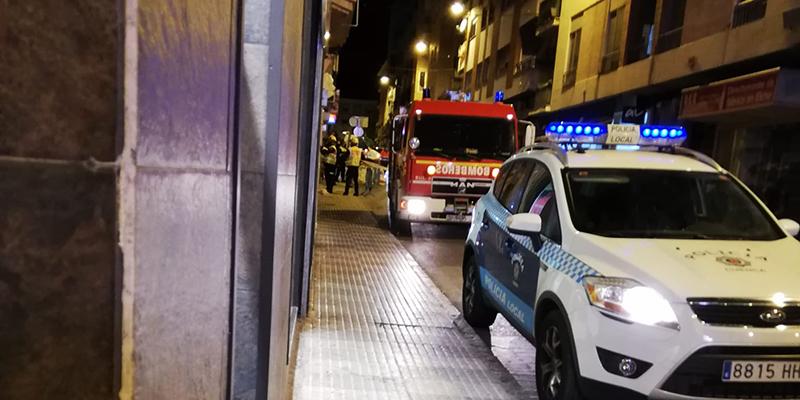 Cae un trozo de cornisa en la calle Sánchez Vera de Cuenca