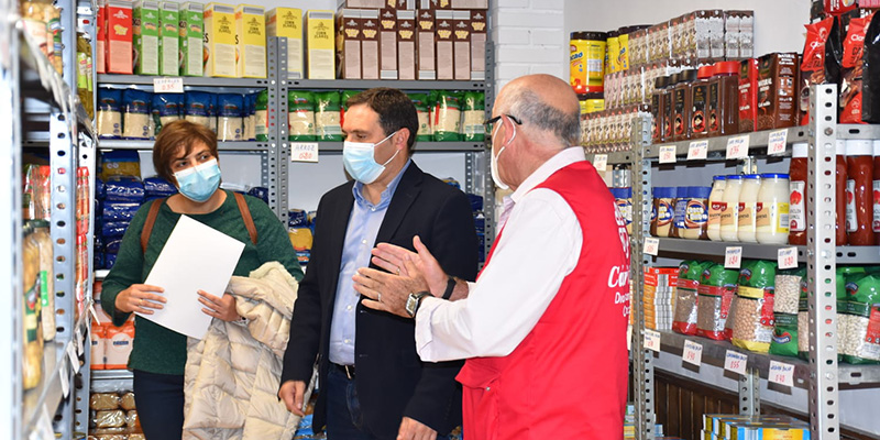 Cáritas Cuenca duplica el número de familias que atiende en el Economato, gracias a la ayuda de la Diputación de Cuenca