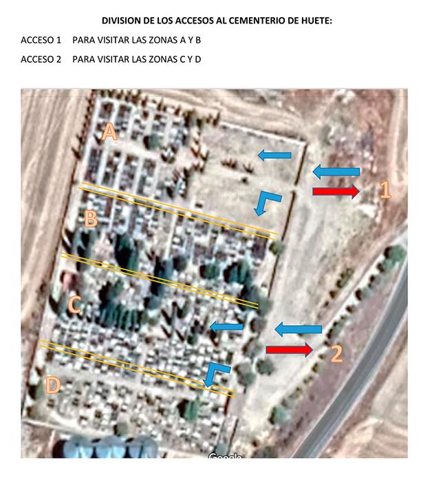 El Ayuntamiento de Huete establece un protocolo de seguridad COVID-19 para visitas al cementerio