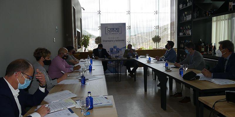 El Comité Ejecutivo de CEOE-Cepyme Cuenca intensifica los trabajos de Invierte en Cuenca pese a la pandemia