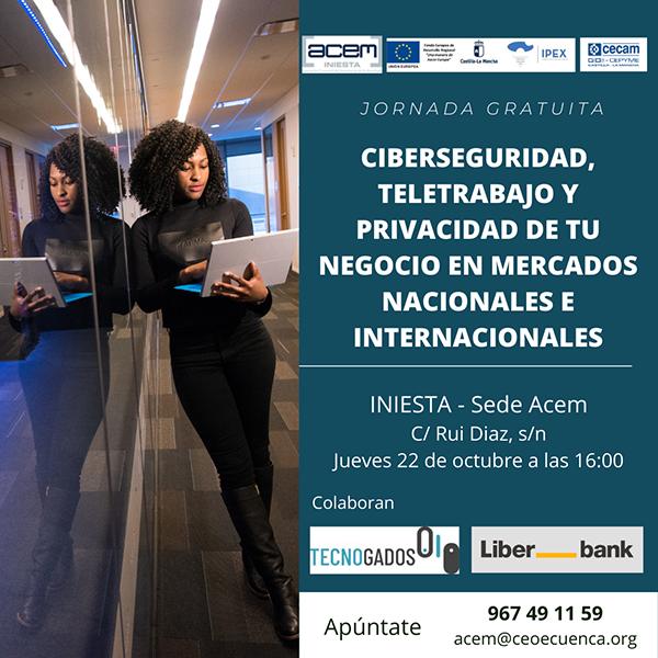 Jornada sobre ciberseguridad en mercados nacionales e internacionales en la sede de ACEM en Iniesta