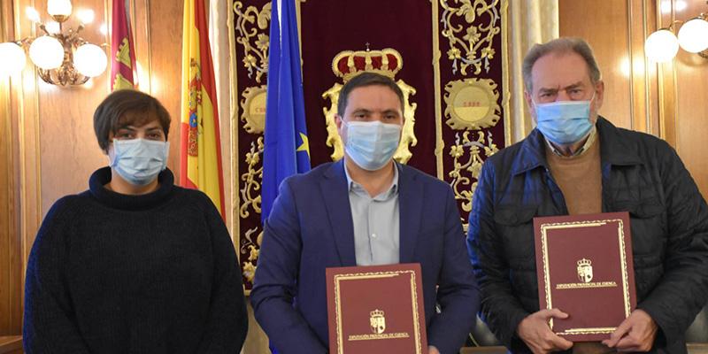 La Diputación de Cuenca y Cáritas renuevan el convenio por valor de 27.000 euros para afrontar la crisis social causada por el Covid