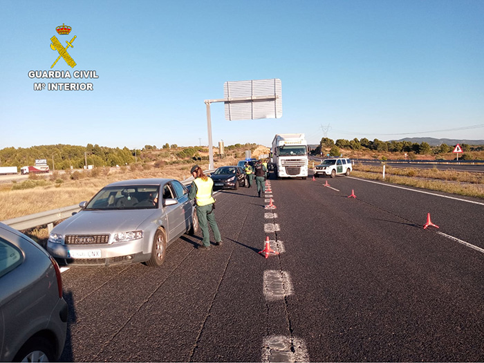La Guardia Civil realiza controles perimetrales en Cuenca en los límites con Madrid, Valencia y Teruel