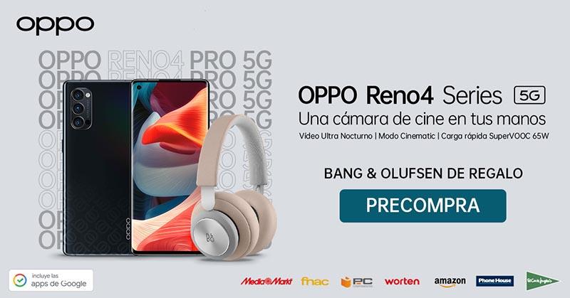 La nueva serie OPPO Reno4 Series ya disponible en Amazon, El Corte Inglés, Media Markt, Phone House, FNAC, Worten y PC Componentes