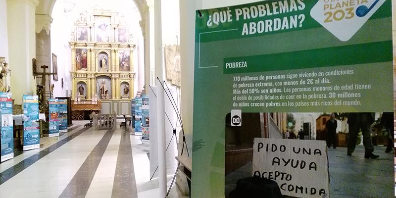 """Priego acoge la exposición de Cáritas sobre los objetivos de desarrollo sostenible """"Objetivo planeta 2030"""" y se suma al Día Internacional para la Erradicación de la Pobreza"""