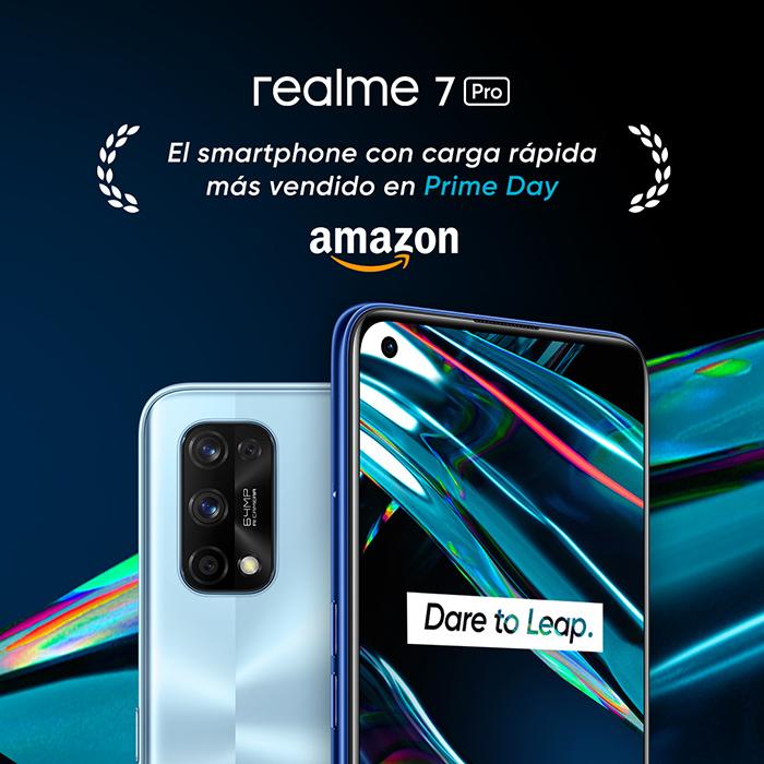 realme 7 Pro se convierte en el teléfono con carga rápida más vendido en Amazon durante el Prime Day