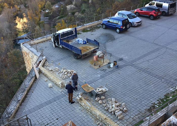 Cuenca, en Marcha! solicita información sobre el parking que está construyendo el Obispado en un mirador del Júcar