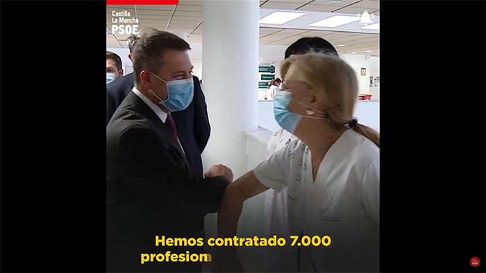 El PSOE de CLM publica un vídeo en el que pide ayuda a la ciudadanía para vencer a la segunda ola de la pandemia