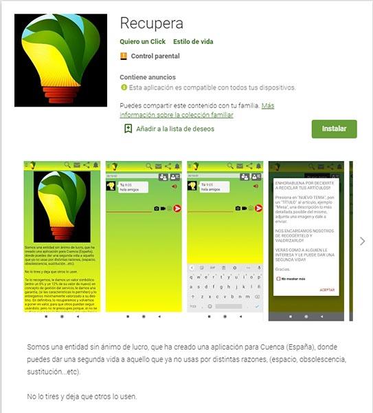 Recupera, una app conquense para dar una nueva vida a los artículos que van a acabar en la basura o el punto limpio