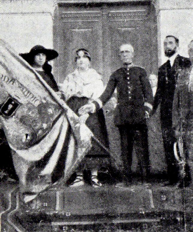banda 1923 entrega de la bandera
