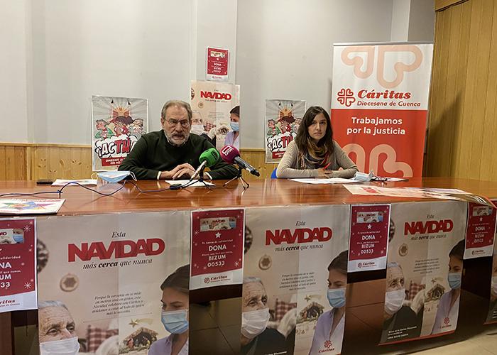 Cáritas Cuenca propone estar más cerca que nunca de quienes más lo necesitan durante estas Navidades
