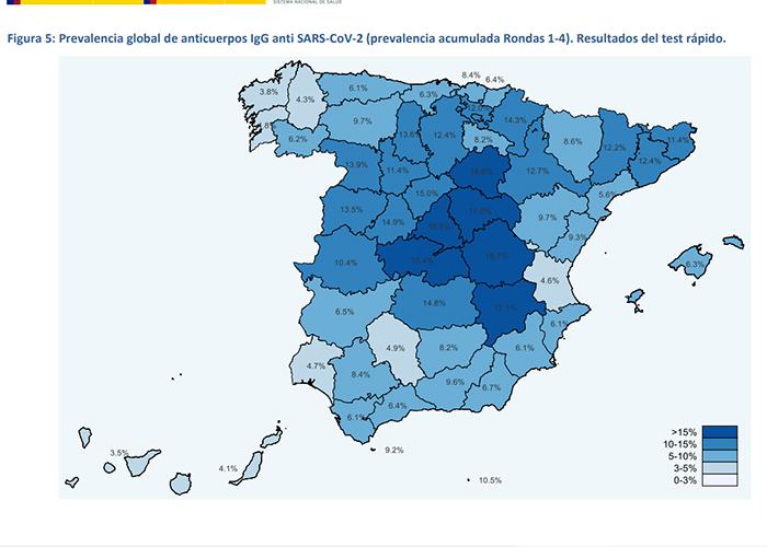 Cuenca es la provincia española con la mayor prevalencia acumulada del coronavirus