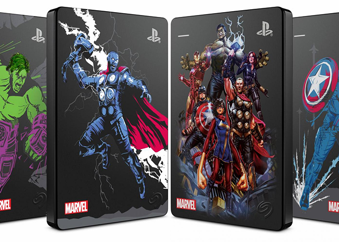 Defiende el universo de Marvel con el Game Drive de Seagate para PS4 Marvel Avengers de edición limitada
