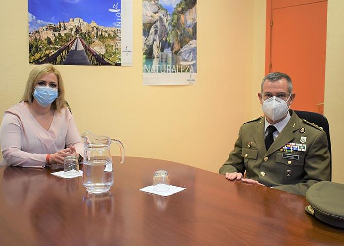 El Gobierno regional agradece al subdelegado de Defensa, Ángel Cantera, su trabajo por la provincia de Cuenca