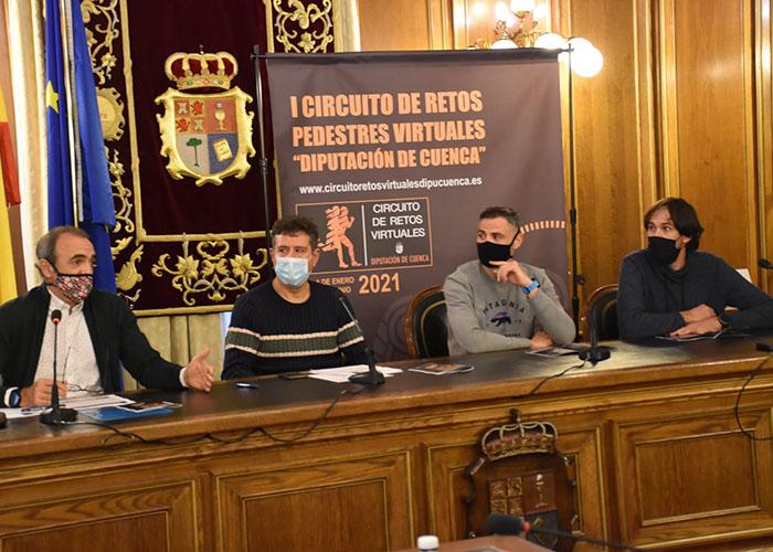 La Diputación de Cuenca presenta el primer Circuito de Retos Pedestres Virtuales para incentivar el deporte en tiempos del Covid