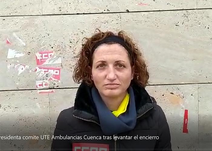 Los delegados de CCOO de la UTE Ambulancias Cuenca logran el compromiso del SESCAM de que la empresa cumplirá el convenio y levantan el campamento