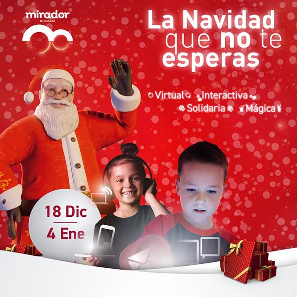 Papá Noel y sus Duendes conectan por videoconferencia con los niños y niñas de Cuenca en el Mirador