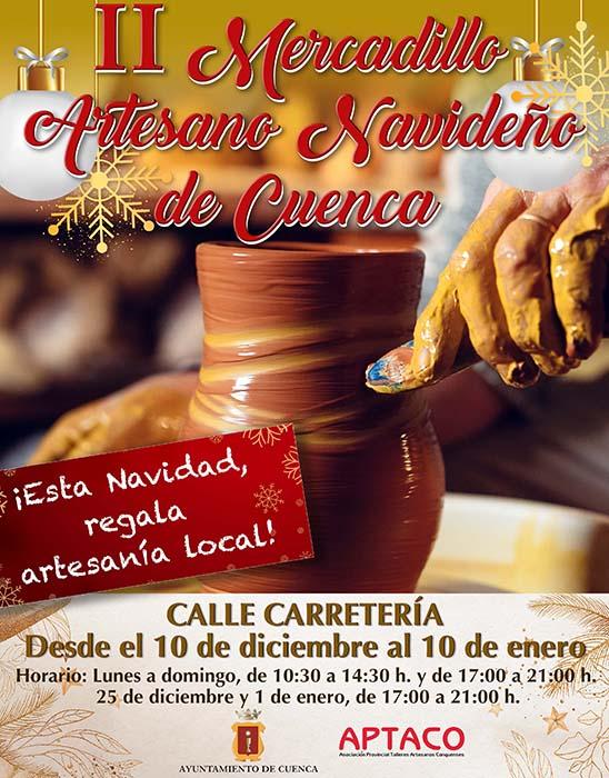 Abre sus puertas el II Mercadillo Artesano Navideño de Cuenca en la calle Carretería
