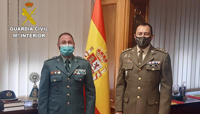 Primera reunión del nuevo subdelegado de Defensa y el jefe de la comandancia de la Guardia Civil de Cuenca