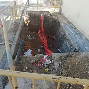 VOX denuncia la peligrosa situación de las obras de acerado y firme en diversos puntos de Cuenca