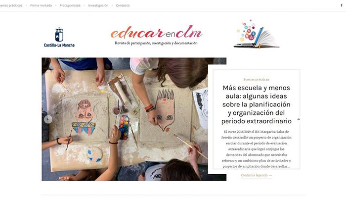 El Gobierno regional relanza la revista digital 'EducarenCLM' para acercar el trabajo de la comunidad educativa a toda la ciudadanía