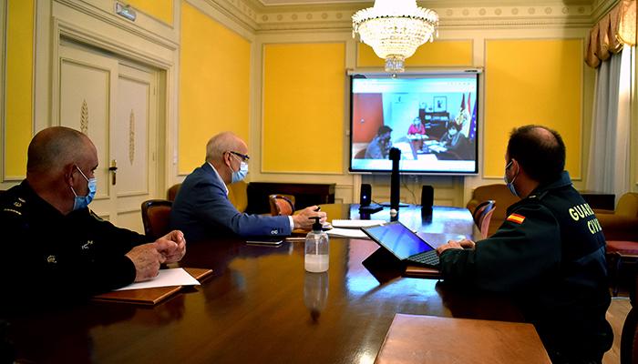 El subdelegado del Gobierno en Cuenca preside la reunión del Centro de Coordinación Operativa Provincial para el control y seguimiento de las restricciones Nivel 3 reforzado