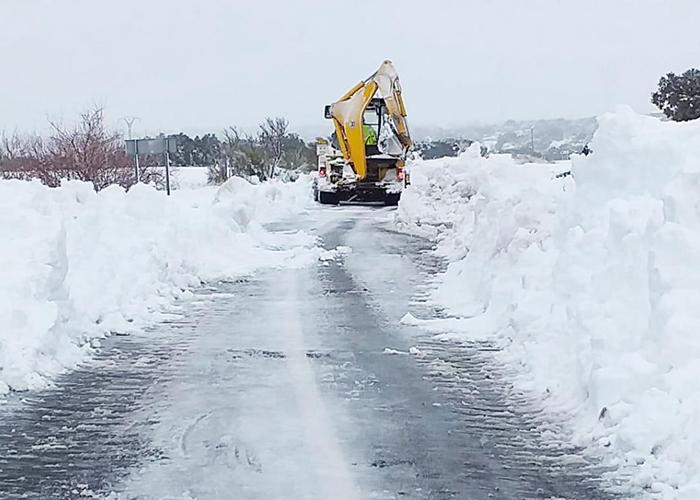 Las carreteras regionales de la Serranía y la Alcarria de Cuenca y el límite con Guadalajara las más afectadas por el temporal