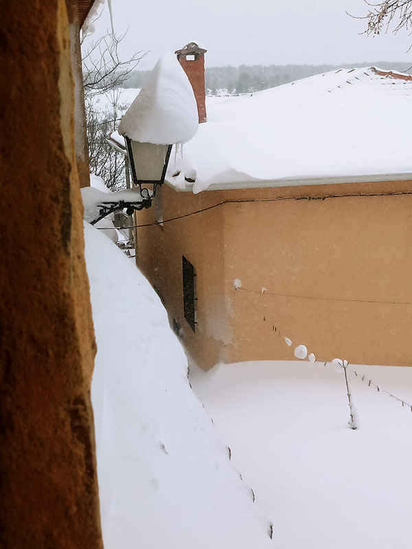 Nieve en Carrascosa de la Sierra