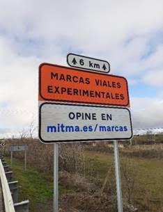 Nuevas marcas viales experimentales en la N-320 entre Alcocer y el límite de Cuenca