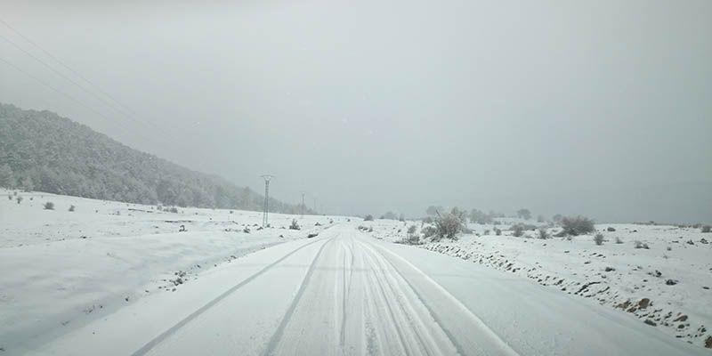 Suspendidas también este jueves todas las rutas escolares de la provincia de Cuenca debido a la nieve acumulada