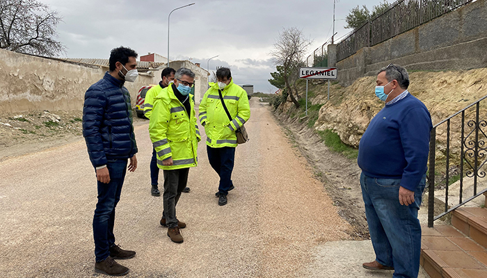 El Gobierno regional realiza una actuación de emergencia en la CM-2026 entre Leganiel y Barajas de Melo por los daños ocasionados por Filomena