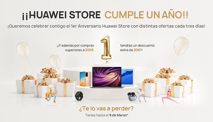 La tienda online de HUAWEI, Huawei Store, celebra su primer aniversario