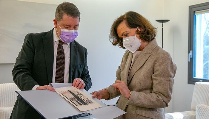 Page y Calvo destacan la buena coordinación entre el Ejecutivo central y el castellanomanchego para la cogobernanza en la gestión de la Covid-19