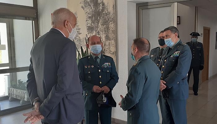 Primera visita institucional del General Jefe de la Guardia Civil en Castilla-La Mancha a la Comandancia de Cuenca
