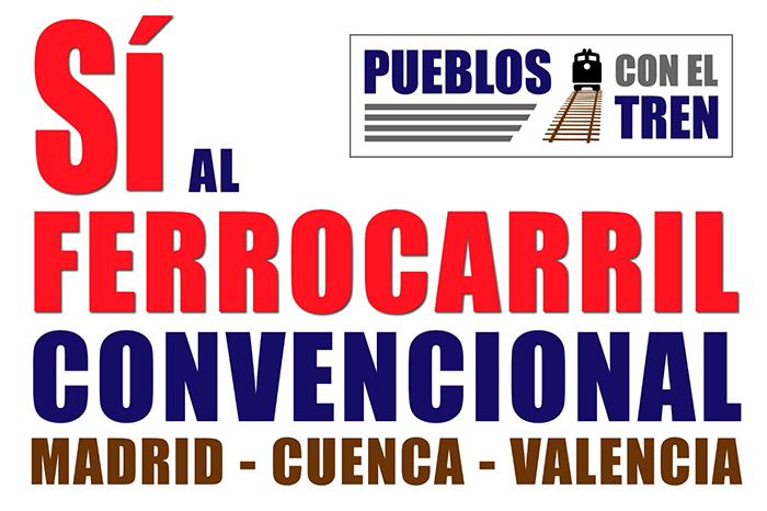 'Pueblos con el tren' organiza actos reivindicativos en las estaciones de la línea Madrid-Cuenca-Valencia para el sábado 13 de marzo