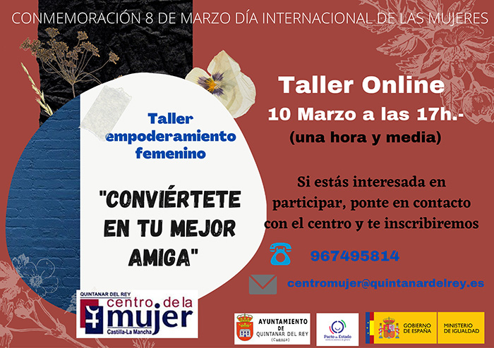Quintanar del Rey visibilizará el 8M con un taller de empoderamiento femenino impartido por Tatiana Rodríguez de la Paz